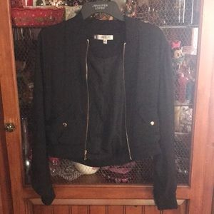 Jennifer Lopez Black Floral Jacket